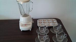 Blender, Cups, Utensils & Minimuffin pan for Sale in GLOUCSTR CITY, NJ