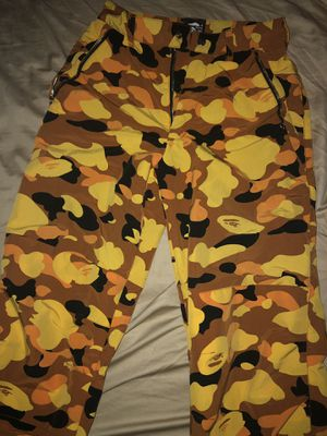 A Bathing Ape Orange Camo Pants for Sale in New Albany, OH