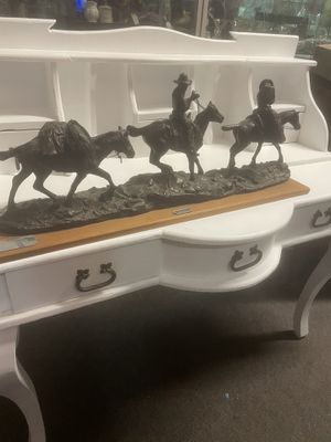 Charles Russell cowboy bronze sculpture statue pick up la Mesa for Sale in San Diego, CA