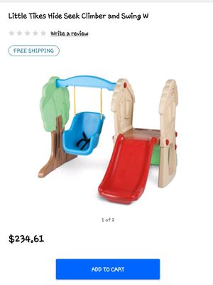 Little Tykes slide and swing set. New in box for Sale in Dallas, TX