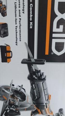 Brand New Ridgid 18v Ridgid 5 Tool Set Drill Impact Circular Saw $535 Retail At Home Depot for Sale in Largo,  FL