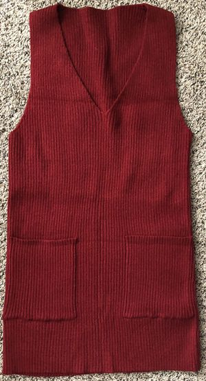 Red Sweater Vest One Size for Sale in Las Vegas, NV