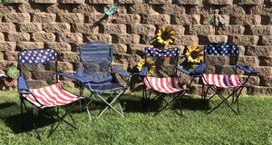 Four Camping/Fishing Chairs for Sale in Albuquerque, NM