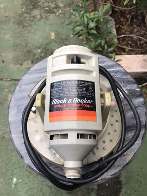 Black & Decker rotary hobby tool, missing flex shaft. Includes bits and accessories. Variable speed Motor runs good. for Sale in Bradenton, FL
