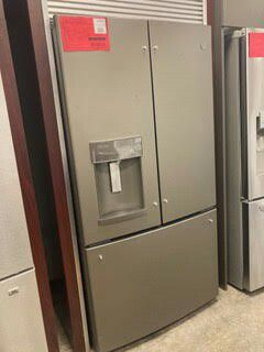 GE ENERGY STAR 22.1 CU FT COUNTER DEPTH FRENCH DOOR REFRIGERATOR 1 YEAR MANUFACTURES WARRANTY for Sale in Chandler, AZ