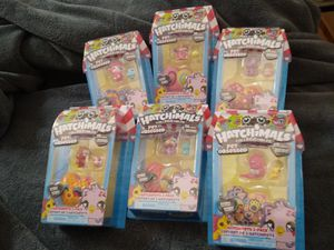 (2) for $8 hatchimals toys surprise hatchimals hearts / pink / yellow / animal / pets / foo/ d / for Sale in Naples, FL