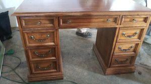 Vintage solid oak desk for Sale in Santa Maria, CA