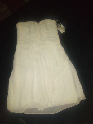 Never worn all white strapless formal dress with Price ag and straps attached for Sale in Las Vegas, NV