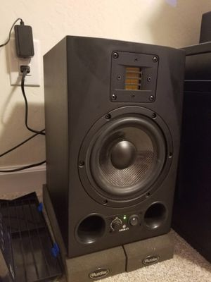 "Dual (2x) Adam A7X Studio Monitors + KRK 10s 10"" Powered Studio Subwoofer + NuForce Icon (DAC/AMP) for Sale in San Francisco, CA"