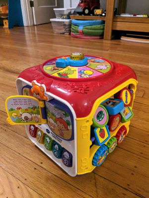 Baby VTech sort and discover activity cube $30 new for Sale in Portland, OR
