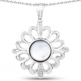 Spectacular Ladies Sterling Silver Pearl 18 Inch Designer Necklace for Sale in Detroit, MI