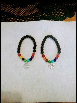 Chakra healing bracelets with Tree of Life charms for Sale in Colton, CA