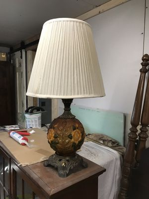 Amber table lamp for Sale in Greer, SC
