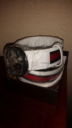 White Gucci belt for Sale in Salt Lake City, UT