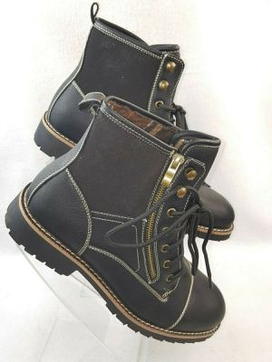 """Ferro Aldo """"Cody""""Men's Motorcycle Boots Black and Brown Size 9.5 to 11 for Sale in Detroit, MI"""