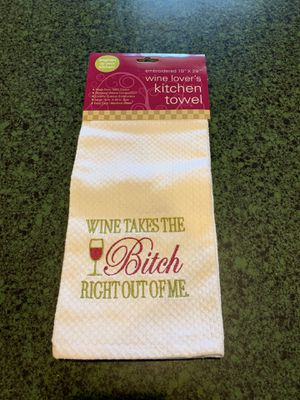 Wine Lovers Kitchen Towel for Sale in North Huntingdon, PA