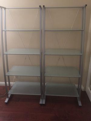 Z-Line Matrix Glass and Steel Book Shelves for Sale in Laguna Beach, CA