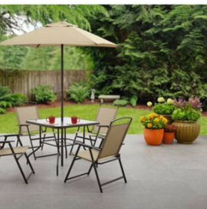 New!! 6 pc outdoor patio set, outdoor conversation set, chat set, patio furniture , tan for Sale in Phoenix, AZ