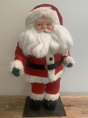Tall Vintage Santa w bag on wood for Sale in Brea, CA