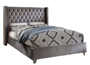 Queen size tufted gray bed for Sale in Brick Township, NJ