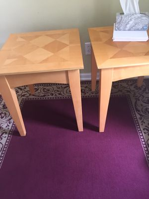 Wood two coffee table or end tables for sale for Sale in Dublin, OH