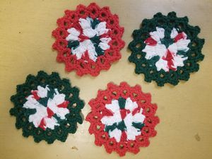 Crocheted Holiday Coasters for Sale in Los Angeles, CA