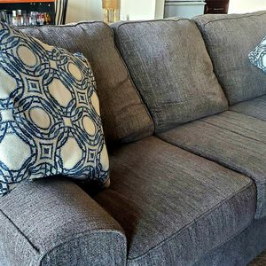 Good Condition Gray Fabric Couch for Sale in Wickliffe, OH