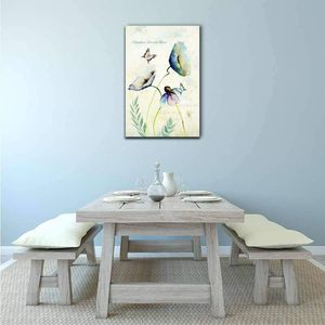 ((FREE SHIPPING)) Butterflies and Flowers - Gallery Wrap Modern Home Decor | Ready to Hang Painting like print for Sale in Corona, CA