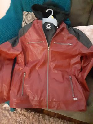 Guess leather hoodie jacket for Sale in Las Vegas, NV