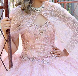 Rose gold Quinceañera dress size XS for Sale in Phoenix, AZ