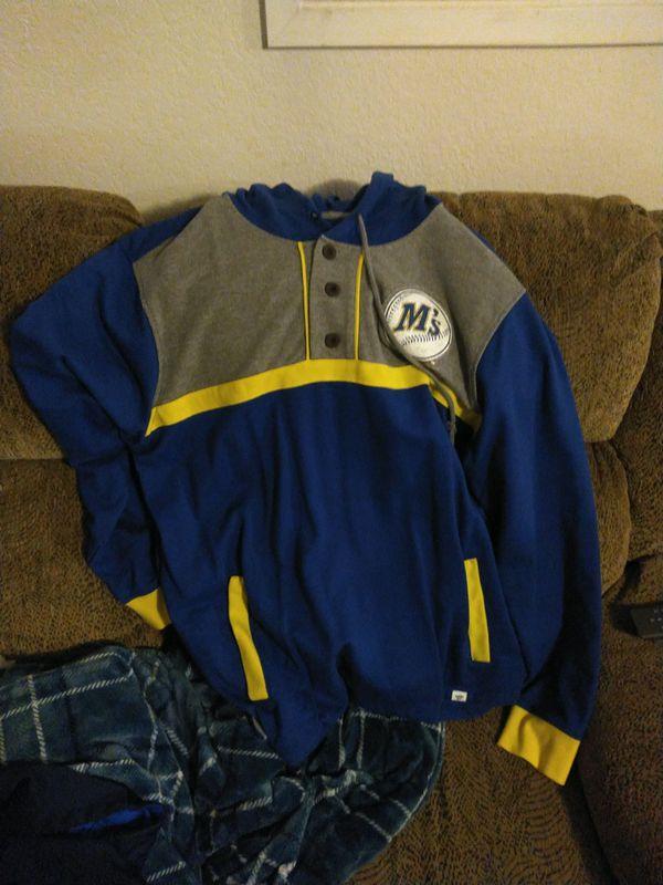 (2) hooded sweatshirts, (2) marvel t-shirts