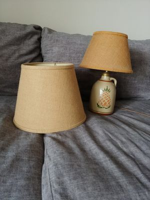 Cute table lamp with matching floor lamp shade for Sale in San Antonio, TX