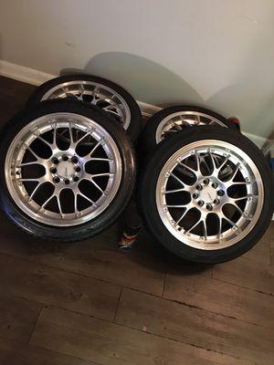 "17"" 4 lug universal Stw aluminum wheels for Sale in Largo, FL"