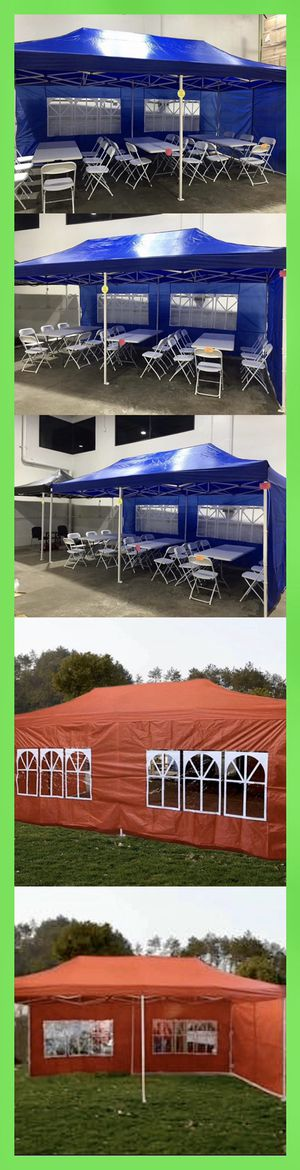 10x20   10 x 20 Easy Up Pop Up Canopy Tent with Side Walls for Sale in Chino, CA