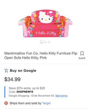 Hello kitty 2 n 1 kids couch for Sale in Kingsburg, CA