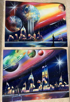 Original Art ! Manhattan NYC New York Posters Spray Paint for Sale in Miami, FL