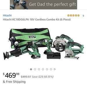 Hitachi $200 firm *****18 volt 6 piece cordless lithium ion battery combo kit for Sale in Saint Joseph, MO