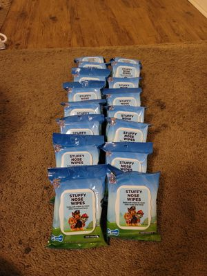 (2 pks) Paw Patrol stuffy nose wipes for Sale in Fort Worth, TX