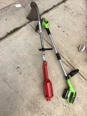 Battery operated weed eater and electric weed eater for Sale in Keller, TX