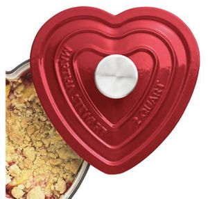 Martha Stewart Collection Enameled Cast Iron 2-Qt. Heart-Shaped for Sale in Ashburn, VA
