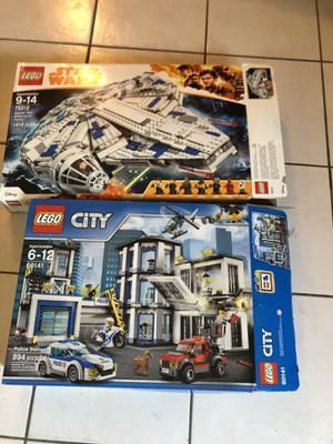 Lego Star Wars 75212 millennium Falcon and 60141 City Police HQ brand new sealed! for Sale in Tarpon Springs, FL