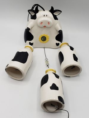 Happy Dairy cow and milk bottle wind chimes for Sale in Ontario, CA