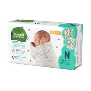 Seventh Generation 144 Ptinted Newborn Diapers for Sale in Chicago, IL