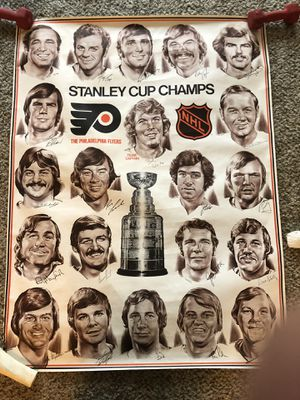 Philadelphia Flyers Stanley Cup Finals autographed team poster for Sale in Fairfax, VA