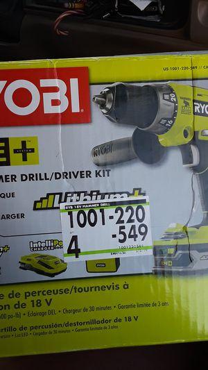 Ryobi 18v hammer drill /driver kit for Sale in Pahrump, NV