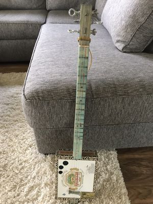 Three String Electric Cigar Box Guitar for Sale in Litchfield, OH