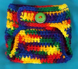 Handmade Crochet Variegated Diaper Cover for Sale in Oakley, CA
