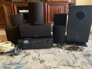 Onkyo 8 piece surround sound speaker with receiver system for Sale in Virginia Beach, VA