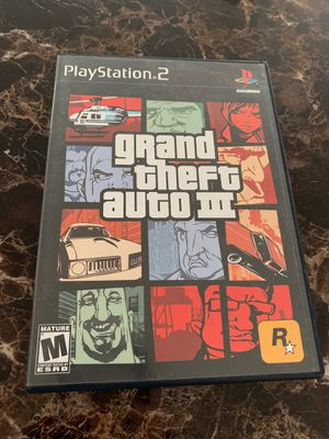 PlayStation 2 Game Grand Theft Auto 3 for Sale in Stafford, VA