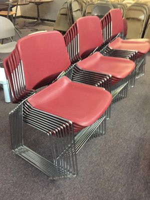 57 Plastic metal chairs for Sale in Annandale, VA